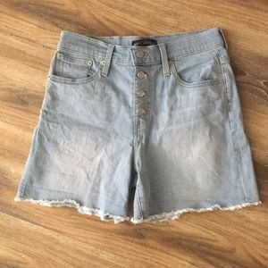 J Crew Factory Button Fly Light Wash Shorts